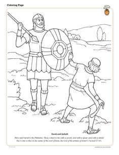 david Goliath printables free printable coloring page David