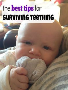 how to survive teething. tips for soothing a teething baby.