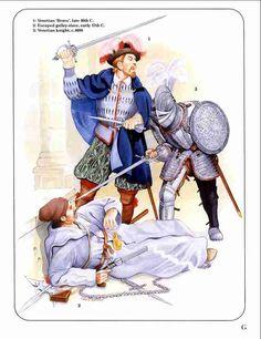La Pintura y la Guerra. Medieval Knight, Medieval Armor, Medieval Fantasy, Military Art, Military History, Early Modern Period, Armadura Medieval, Landsknecht, Renaissance Era