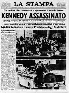 Il presidente degli Stati Uniti John Fitzgerald Kennedy viene assassinato. E' il 22 novembre del 1963.