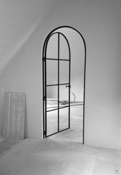 Steel Doors And Windows, Arched Doors, Exterior Doors, Interior And Exterior, Door Design, House Design, Barn Door Window, Interior Design Guide, Italy House