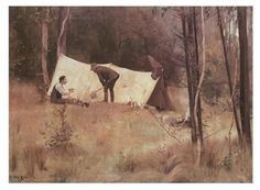 Title:Artist's Camp 1886 Artist:TomRoberts Item#:4385 Style:Impressionism Description:One of the most famous of Australia's classic paintings which still finds great popularity. Published by a leading Australian art print supplier.