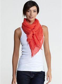 Beautiful scarf tying!