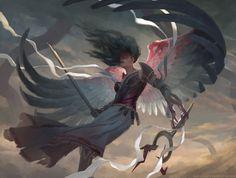 MtG Art: Bruna, the Fading Light from Eldritch Moon Set by Clint Cearley - Art of Magic: the Gathering Dark Fantasy Art, Fantasy Artwork, Fantasy Kunst, Angel Demon, Angel Warrior, Angel Art, Eldritch Moon Mtg, Magic The Gathering, Mtg Art