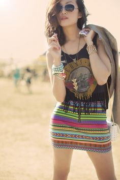Chriselle at Coachella music festival.. <3 her outfits!