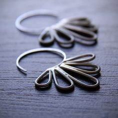 Peacock Hoop Earrings...I am obsessed with hoops...these are stunning