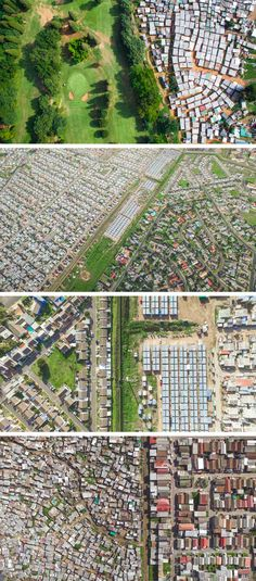 Aerial Shots That Demonstrate The Stark Divide Between Rich and Poor