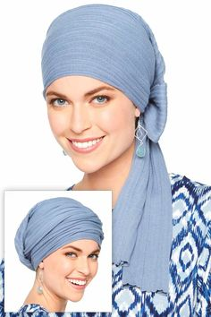 Pure Cotton Deluxe Long Tail Head Wrap | Knitted Head Covering for Women with cancer. Makes a beautiful and practical gift for cancer patients! #chemoscarf #cancerscarf #headwrap