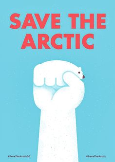 A bit too obvious but it's for a green arctic, right? Save The Arctic by Mauro Gatti, via Behance