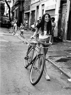 .girl and bike