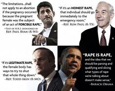 Just the thought that the republicans are trying trivialize rape should be a clear message to women who to vote for. But they are betting that the religious fanatics will convince women that if they get pregnant from a rape it's a gift from God. Intersectional Feminism, Tabu, Pro Choice, Patriarchy, Social Issues, Social Work, Fight Club, Social Justice, Equality