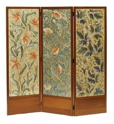 V&A · Arts and Crafts - Screen, designed by John Henry Dearle, manufactured by Morris & Co. Arts And Crafts For Adults, Arts And Crafts House, Easy Arts And Crafts, Arts And Crafts Projects, Crafts For Teens, Art Crafts, Art Nouveau, Art And Craft Design, Design Crafts
