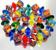 "Sistersbeads ""Chaos Crystals"" Handmade Lampwork Beads"