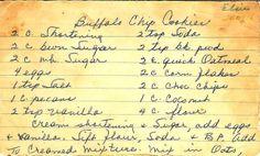 A Cake Bakes in Brooklyn: Elsie's Buffalo Chip Cookies Oat Cookies, Candy Cookies, Brownie Cookies, Cookie Desserts, Yummy Cookies, Cookie Recipes, Dessert Recipes, Cookie Exchange Party, Christmas Cookie Exchange