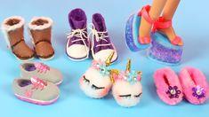 Barbie Kleidungsmuster, Barbie Dolls Diy, Barbie Shoes, Doll Shoes, Diy Doll, Ag Dolls, Girl Dolls, Sewing Barbie Clothes, Barbie Sewing Patterns