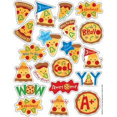 Fun and colorful Eureka Scented Stickers with a long-lasting smell will add an extra touch to graded assignments, classroom crafts and rewards! Each pack includes 80 scented self-adhesive stickers. Individual sticker size varies slightly by design. Reward Stickers, Teacher Stickers, Classroom Rewards, Classroom Crafts, Valentine Pizza, Vip Kid, Teaching Supplies, Oriental Trading, Learning Centers