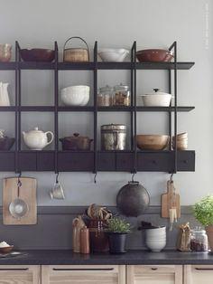 IKEA Falsterbo, Scandinavian style rustic kitchen