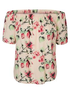 Floral printed top from VERO MODA. The dropped shoulder top is a must for summer.