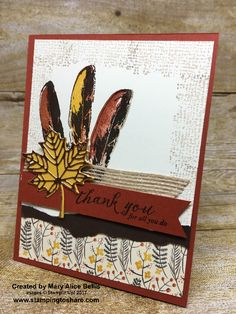 Stampin\' Up! Feather Together card created by Mary Alice Bellis for Stamping to Share Demo Meeting Swap. #stampingtoshare