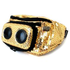 Jammy Pack Super Diamond Gold Fanny Pack Boombox Speakers on Storenvy