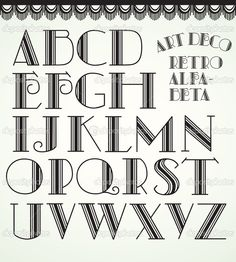 Alphabet art | Art deco alphabet | Stock Vector © Helena Öhman #6604273