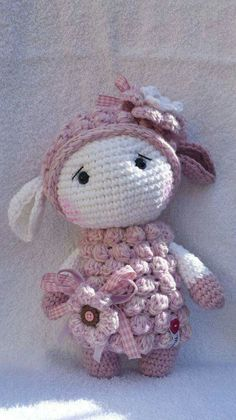 A BHBD dressed as a lamb instead of doing the lamb amigurumi
