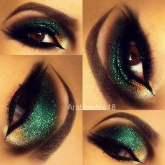 We own The Night (Arabic Makeup) #eyes #arabicmakeup #greeneyeshadow