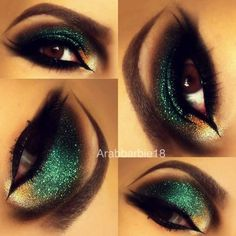 We own The Night (Arabic Makeup) #eyes #arabicmakeup #greeneyeshadow