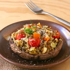 Quinoa-Stuffed Portobellos - Liz the Chef