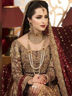 Nov 2019 - Latest Pakistani Designers Bridal Dresses & Embroidery Collections, Wedding Lehenga, Sharara best price for every woman Shop from our Elegant Pakistani Bridal Jewelry, Bridal Mehndi Dresses, Asian Bridal Dresses, Pakistani Wedding Outfits, Indian Bridal Outfits, Indian Bridal Makeup, Bridal Dress Design, Wedding Dresses For Girls, Bridal Style