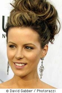 her hair is always flawless. Kate Beckinsale