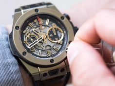$40,256.63  Hublot Magic Big Bang Unico Meca Watch - affiliate - Brandishing an exposed, intricate skeleton, this Meca-10 Full Magic watch by Hublot boasts a polished gold case with sports-luxe styled rubber straps. Flashing red detailing to the face, with Hublot's logo hovering above a mechanical finish -it wears with your most-suave suit for luxurious accessory accenting