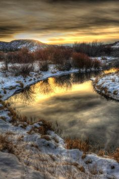 Montana winter reflection