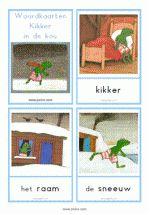19 Woordkaarten - Kikker in de kou - klein + lidwoorden