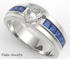 Welcome to Vidar Jewelry! Specializing in Custom Diamond&GemStone, Engagement Rings&Wedding Ring Sets.  ***New!!Watch A Video Of This Ring Here***