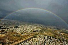 Rainbow over the holy land....MORNING!!!!