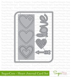 Always Playing with Paper: SugarPea Designs Day 2 {Simple Valentine Cards}