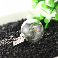Dandelion wishing necklace, gift ideas for her