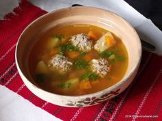 Soup Recipes, Cooking Recipes, Jacque Pepin, Romanian Food, Cheeseburger Chowder, Bacon, Food And Drink, Pasta, Ethnic Recipes