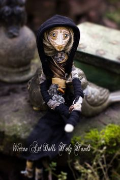 Wiccan Art Doll Holy Hands Tribal Earth Witch by WiccanDolls on Etsy