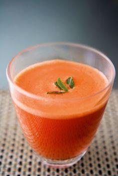 Zumo potente de zanahoria y jengibre.