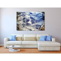 Metal Abstract Wall Art Decor - Earth Clouds