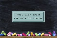 Not ready for the summer to end? Try these 3 Easy Organizing Ideas for Back to School via Clean Mama I like the errands list Cool School Supplies, School Supplies Organization, Paper Organization, Organizing Ideas, Back To School Gifts, School Days, School Stuff, Educational Activities, Activities For Kids