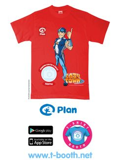 The LazyTown T-Shirt supporting Plan UK. www.t-booth.net