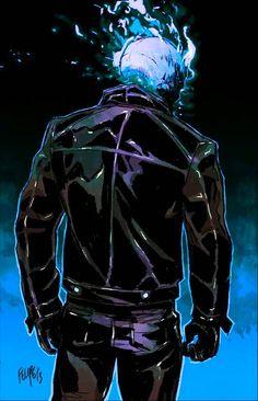 Ghost Rider, Danny Ketch, Johnny Blaze, Spirit of Vengeance, Felipe Smith… Hq Marvel, Marvel Comics Art, Marvel Heroes, Mundo Marvel, Captain Marvel, Ghost Rider 2007, Ghost Rider Marvel, Blue Ghost Rider, Character Drawing