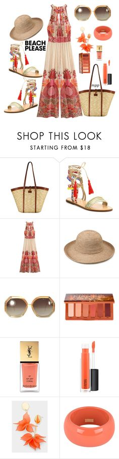 """Beach time"" by m-p-poppes ❤ liked on Polyvore featuring Most Wanted, Schutz, Calypso St. Barth, Ted Lapidus, Urban Decay, Yves Saint Laurent, MAC Cosmetics, Dsquared2, polyvorecontest and BeachPlease"