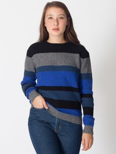 Unisex Stripe Seed Stitch Pullover | Pullovers | Women's Sweaters | American Apparel -- Review Coming soon for this other American Apparel gift ideas -- http://store.americanapparel.net/rsakwsscw.html?cid=217-846
