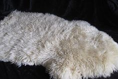 Vintage Giant Sheepscin Ivory Throw Genuine Leather Shaggy Rug Long Hair Lamb Rug Decorative Lamb Rug White Rug