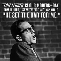 """MUSIC TO WRITE BY - Tom Lehrer's """"Poisoning Pigeons in the Park"""" http://isawlightningfall.blogspot.com/2014/06/music-to-write-by-tom-lehrers-poisoning.html"""