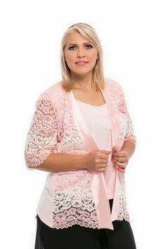 svetloružový top + kabátik pre moletky Spring Summer, Lace, Women, Fashion, Moda, Fashion Styles, Racing, Fashion Illustrations, Woman